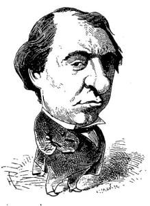 Caricature parue sur le Trombinoscope par Touchatout (3e volume, 1873/75)