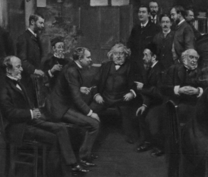 """""""Salle de rédaction du Journal des débats en 1889"""" (détail)"""