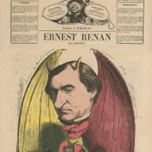 Caricature d'Ernest Renan par Ancourt