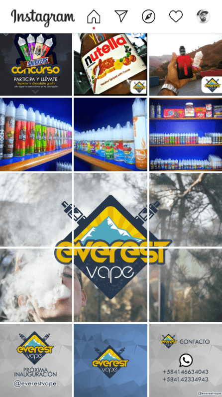 Everest Vape Instagram Init