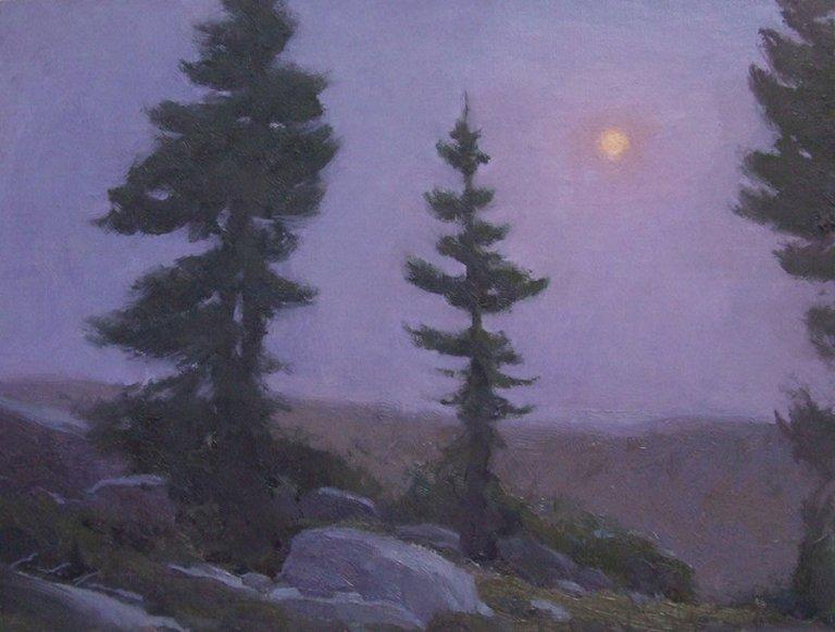 Moon Above Garnet