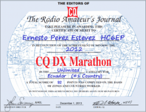HC6EP - Dx Marathon 2012