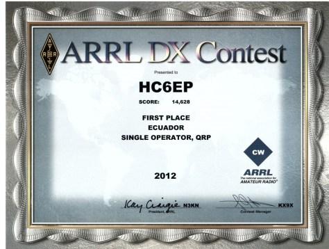 ARRL DX Contest 2012