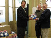 Donation of Carbon Monoxide Alarms to Operation Sharing in Woodstock.