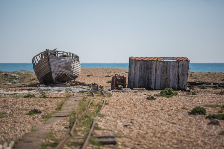 Boat hull on Dungeness beach