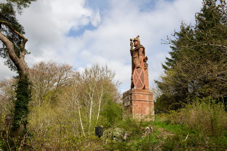William Wallace statue in the grounds of the Bemersyde estate, near Melrose