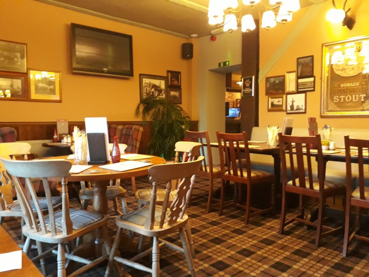 The dog-friendly dining area at the Lindisfarne Inn