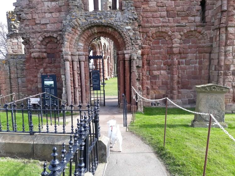 Ernie explores Lindisfarne Priory