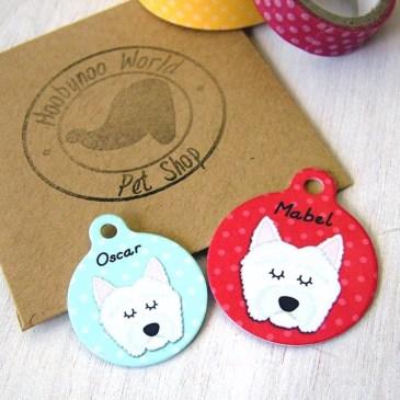 Colourful Hoobynoo pet tags