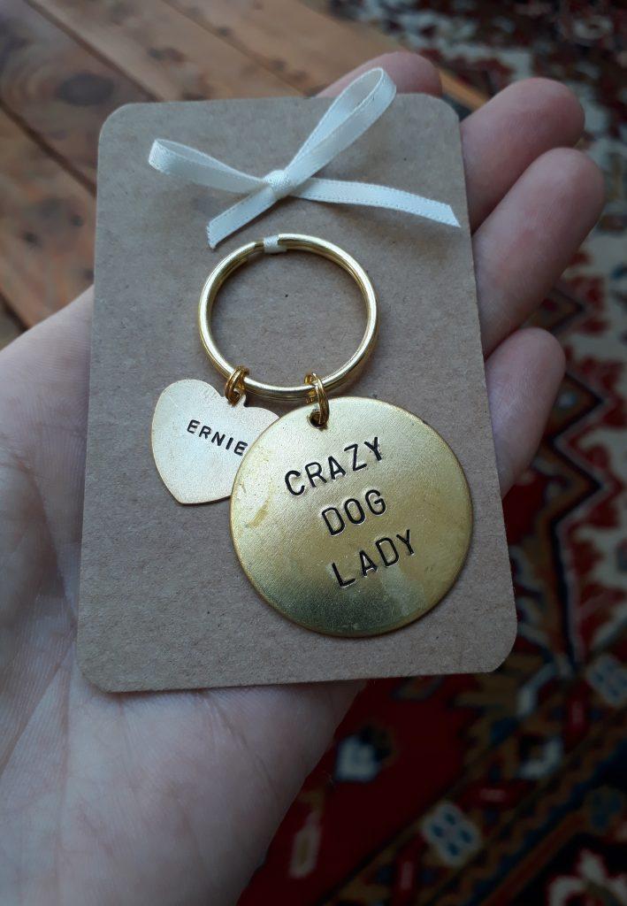 Crazy Dog Lady keyring from January Rose