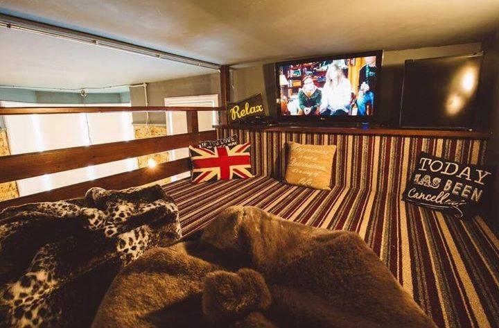 Upstairs snug and TV room at Brooklyn Lodge, Margate