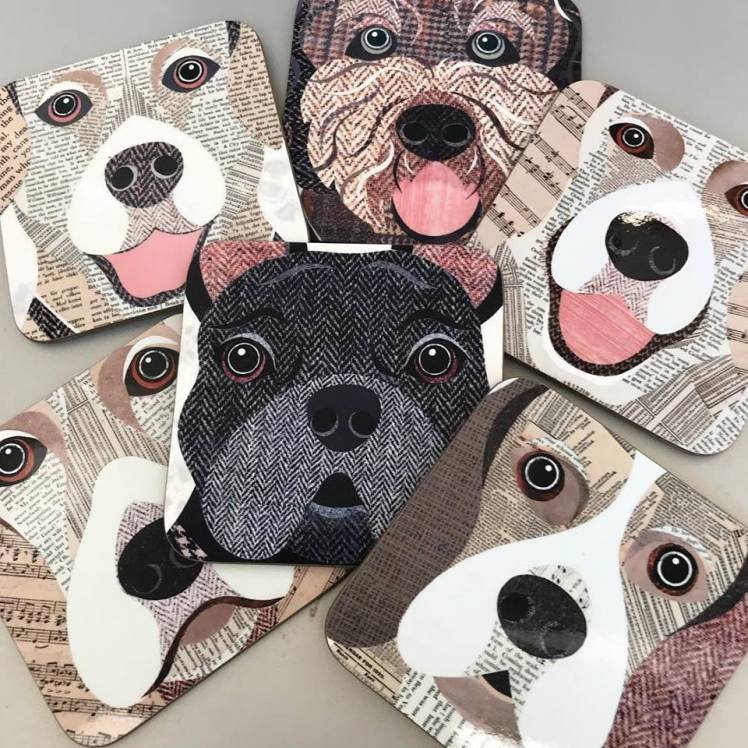 Simon Hart dog coasters
