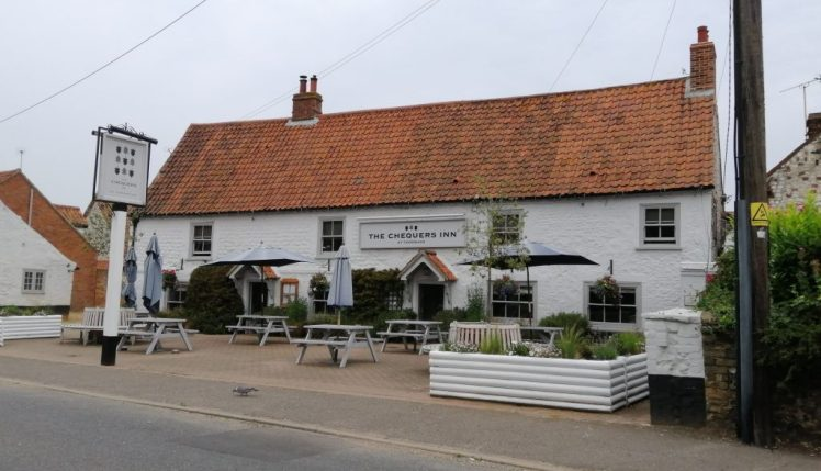 Exterior of the Chequers Inn, Thornham