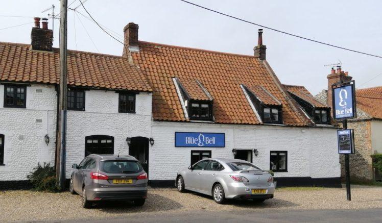 Exterior of the Blue Bell pub, Langham
