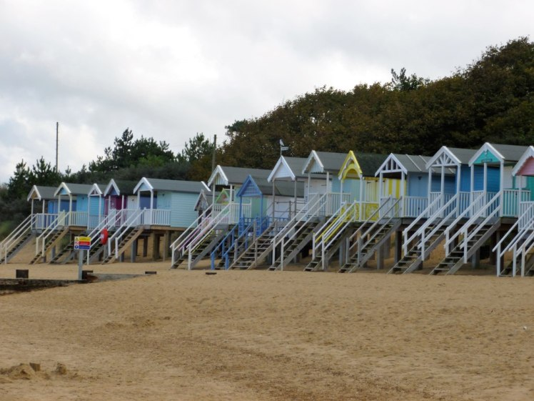 Colourful beach huts at Wells-next-the-Sea, Norfolk