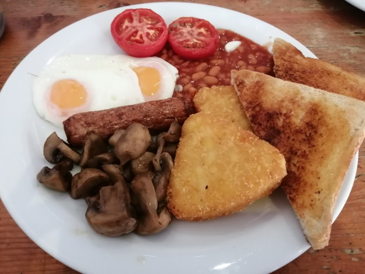 Vegetarian breakfast at The Beach Cafe in Whitstable