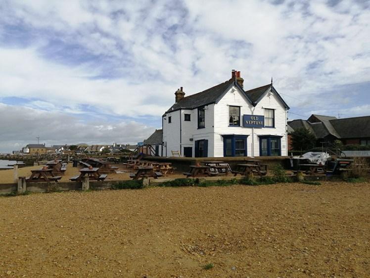 Old Neptune pub on beach, Whitstable, Kent