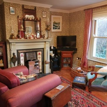 Victorian-style parlour at Albion Cottage, Happisburgh