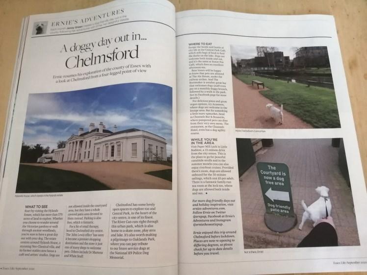 Ernie's Chelmsford column for Essex Life