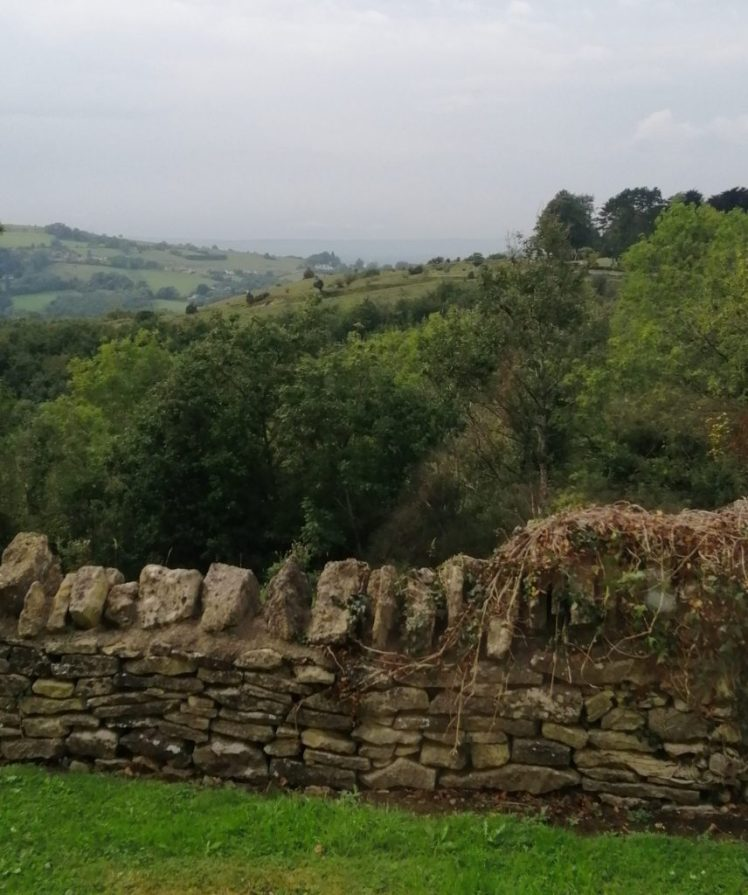 View of hills from our bedroom window at The Bear of Rodborough
