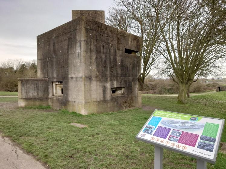 Pillbox at Coalhouse Fort in East Tilbury