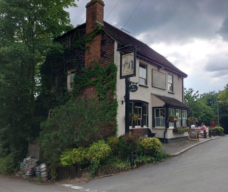 Exterior of the Black Horse Inn, Thurnham