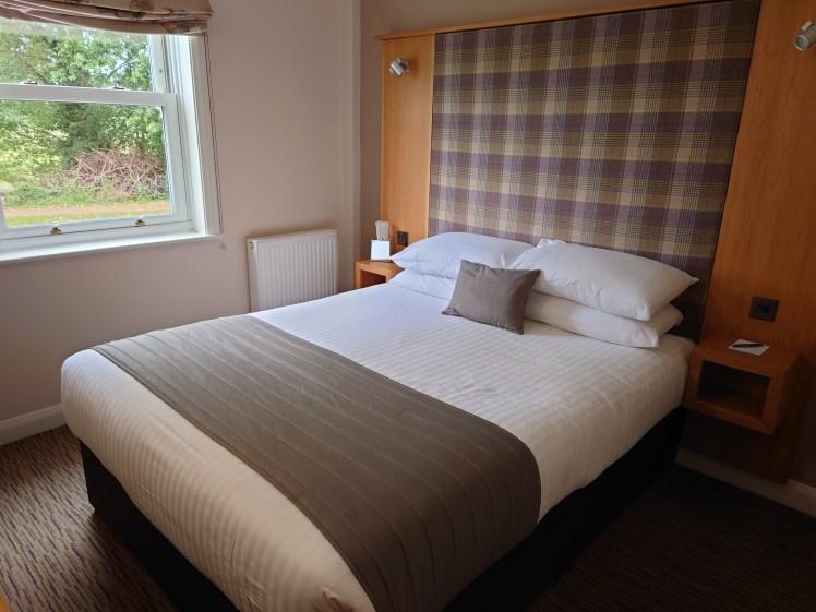 Bedroom at The Mill Hotel, Sudbury