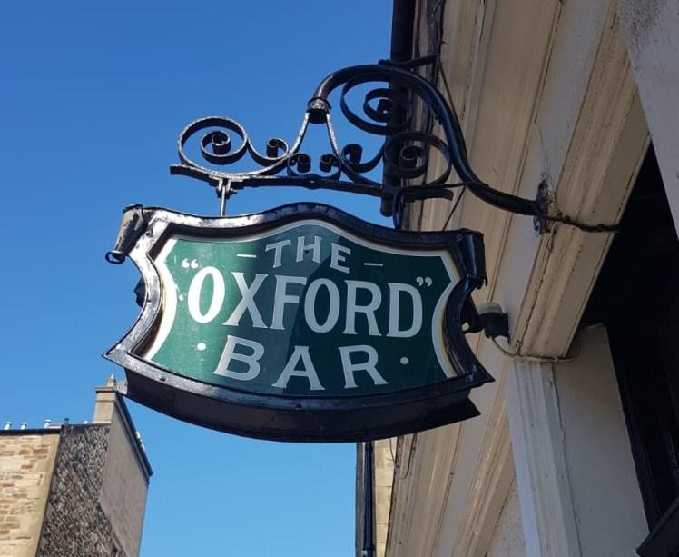 Sign for the Oxford Bar, Edinburgh