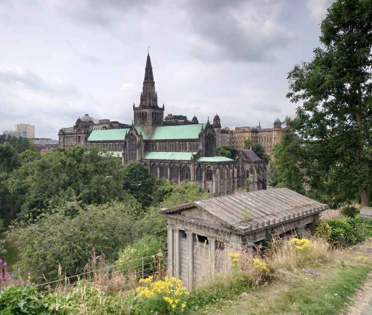 Glasgow Cathedral as viewed from the Necropolis