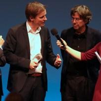 Wolfgang Krach und Preisträger Marc Brost und Andres Veiel