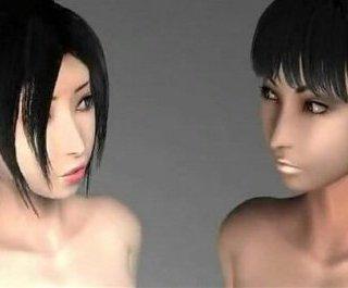 双子の小悪魔女子校生のエロアニメ画像