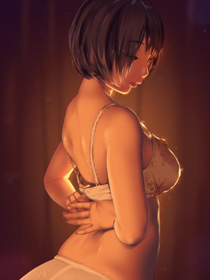 27の二次エロ画像43 - 【二次】エッチで可愛いブラジャーを付けた女の子のエロ画像 Part27