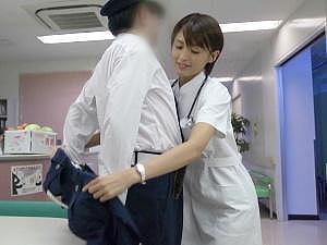 ナースお掃除フェラスレンダー熟女巨乳騎乗位夏目優希椎名ゆな「警備員さん、すごいおっきぃ♡」おだて上手なショートカット看護師が深夜病棟で大胆SEX!キツキツオマ●コに中出しさせる!34分