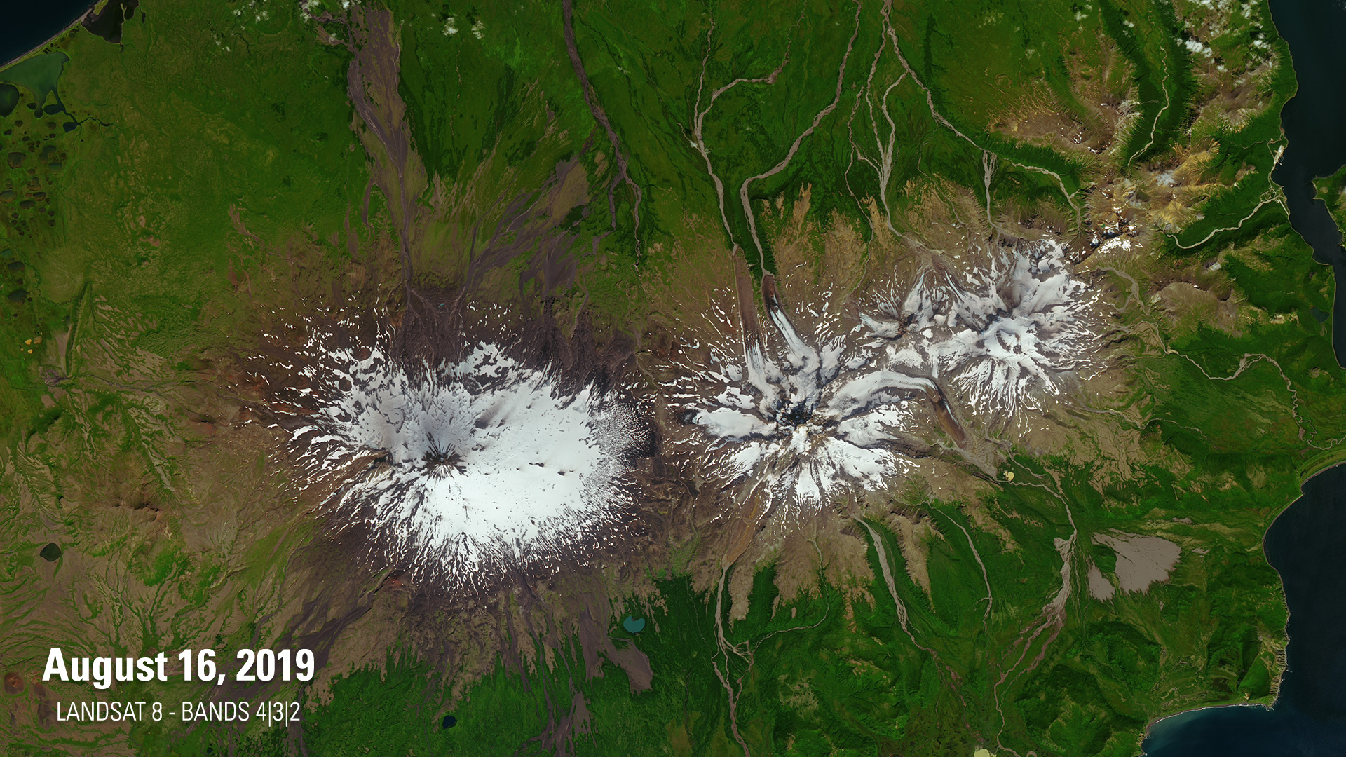 An Aleutian Eruption Day And Night