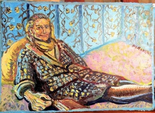 Портрет бабули. 35х50 см. Масло, картон.