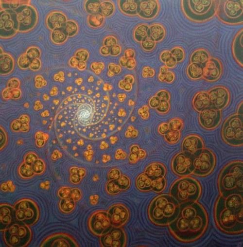 «Origin Oscillation-Transformation», 2010, масло, 61×61 (© James Moss)