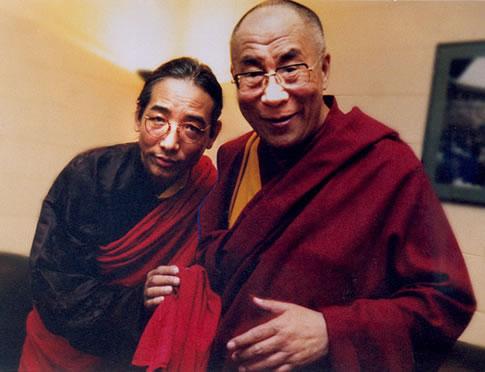 Тралег Кьябгон Ринпоче и ЕС Далай-Лама
