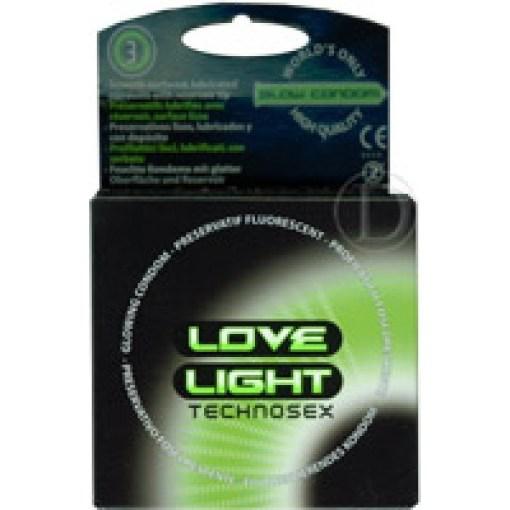 Love light-condones fluorescentes