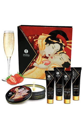 Kit Secretos de Geisha Fresas-Champagne