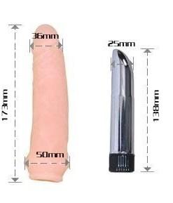 Realistik Penis Kılıfı ve Vibratör Seti