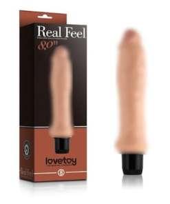Real Feel 20 CM Güçlü Titreşimli Realistik Vibratör Penis Dildo