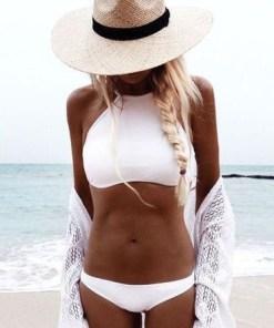 Angelsin Şık Beyaz Tankini Bikini Alt