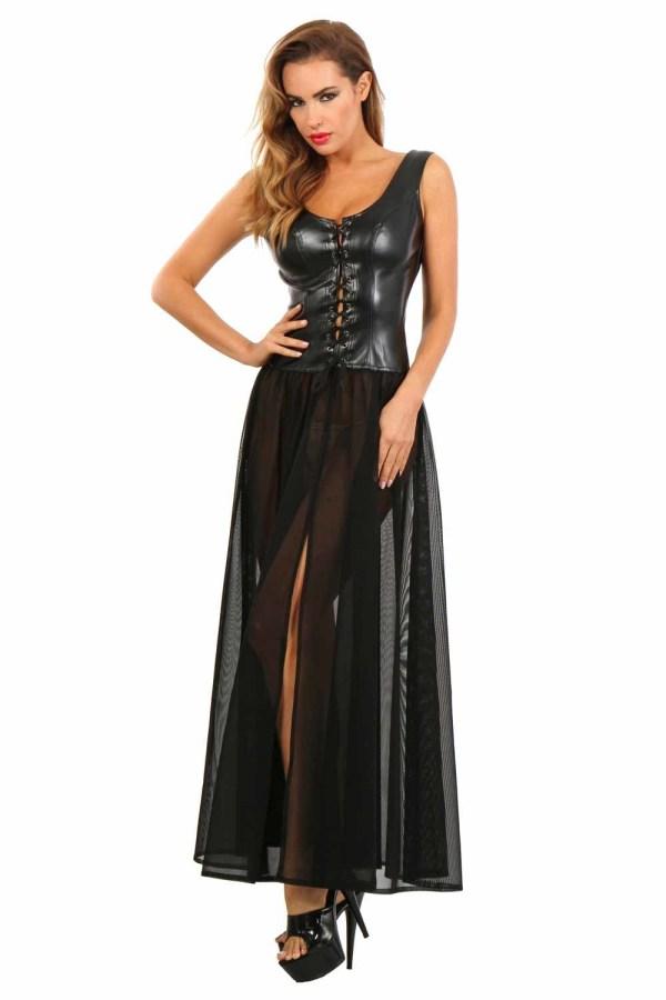 Lange korset jurk