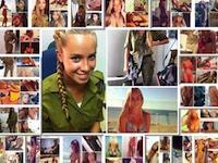 Billeder af frække soldaterpiger der posere i bikini.