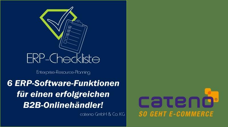 ERP-Checkliste von cateno: 6 wichtige ERP-Software-Funktionen für einen erfolgreichen B2B-Onlinehändler!
