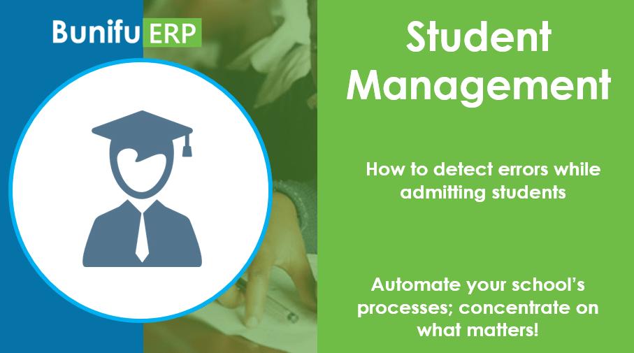 Bunifu ERP how to detect errors while admitting students