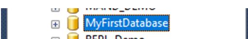 sql database created