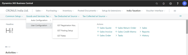 gst userconfig selection