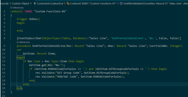 Example on Call OnAfterValidateEvent of Table Field via Eventsubscriber