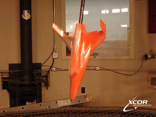 XCOR Lynx model in USAF Wind Tunnel